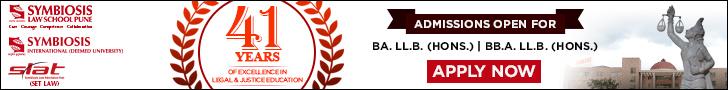 SLS Pune 2018: Admissions open for B.A. LLB (Hons) BBA. LLB. (Hons)