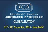 International Conference on Arbitration in the Era of Globalization: 11-12 December 2015, New Delhi