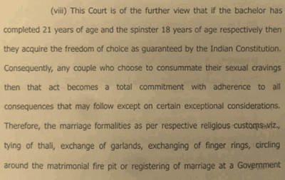 Madras HC on 'sexual cravings'