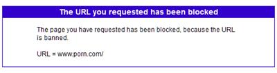 Blocking message on Spectranet