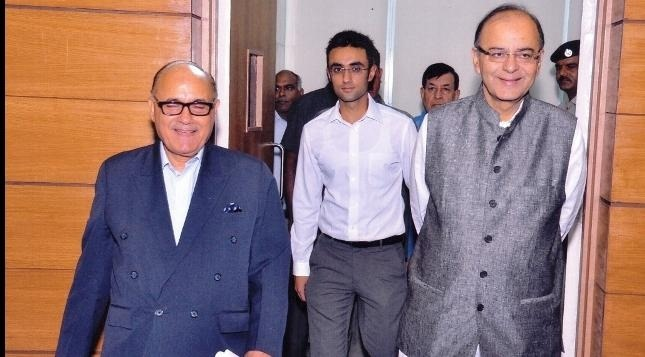 Only tangentially related archive photo from Silf website with Bhasin and minister Arun Jaitley