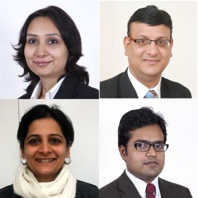Quartet: Singh, Sriniwas, Dodd, Kumar (l to r)