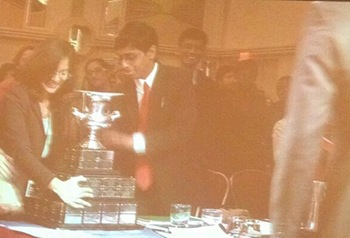 Hariharan & Yadava attempt trophy lift