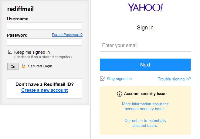 Yes, apparently anonymous alleged defamators still use Yahoo and Rediffmail...