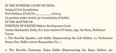 Justice Katju's writ petition
