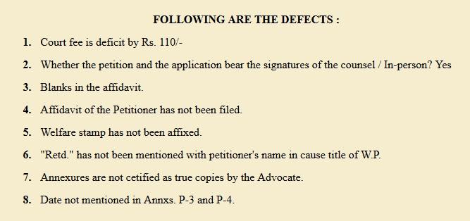 Registry finds Lord Katju defective