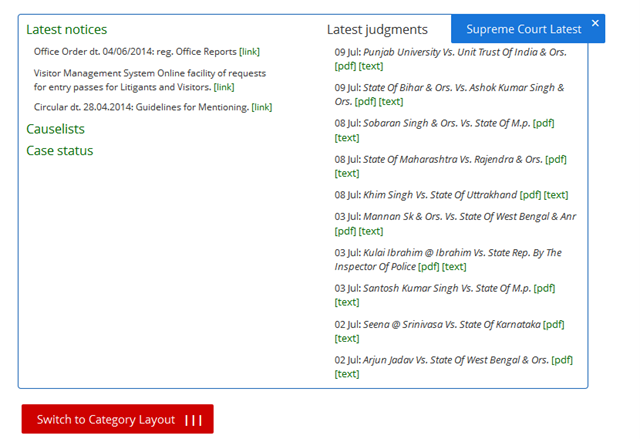 Instant Supreme Court updates on Legally India