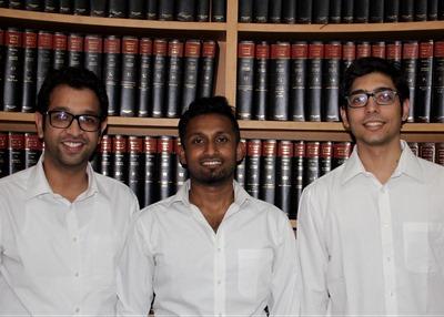 Riding the start-up wave: Hansaria, John, Virmani (L to R)