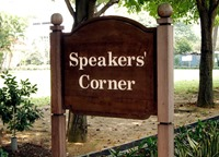 Speaker's corner: Singapore