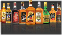 United Spirits bottles