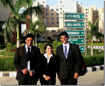 #Winning RMLNLU team: Anantha Krishnan Iyer, Natasha Sarkar and and Bhaskar Subramanian (l to r)