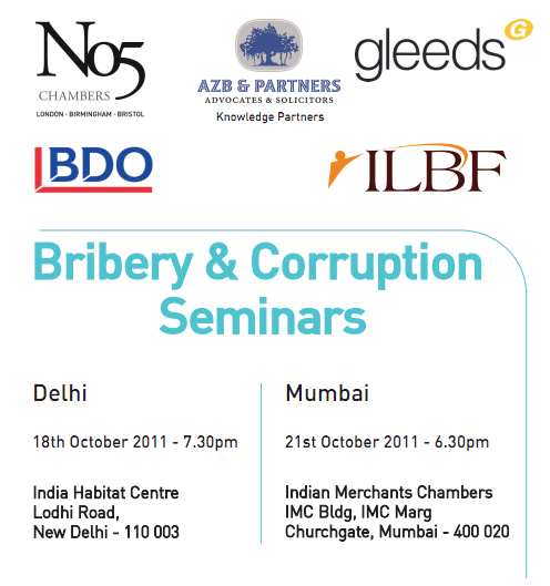 The Delhi and Mumbai seminars delving into bribery & corruption laws