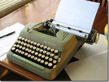 Advice: Blogging requires computer, not typewriter