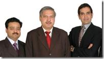 Gupta, Jha, Bishnoi (l. to r.)