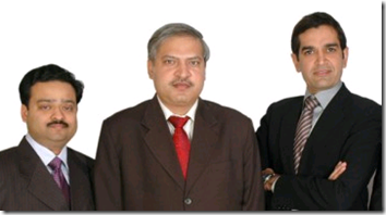 SRGR co-founders Gupta, Jha, Bishnoi (l. to r.)