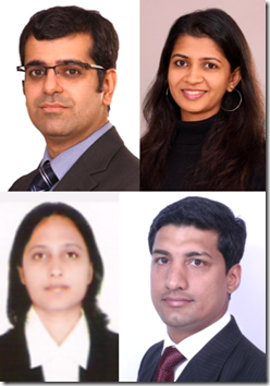 ALMT's latest: Kapadia, Desai, Bopaiah, Sebastian (clockwise from top-left)