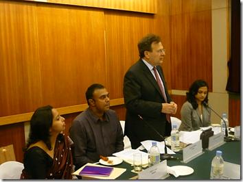 The head of the i-Probono Ashoka Delhi roundtable