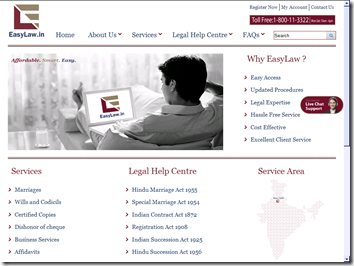 EasyLaw.in: Lawyers on the web