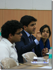 Arjun Pall, a 5th year from NLU-Jodhpur makes a point during the Conference