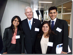Nalsar winners with Vis Prof: Ridhi Kabra, Prof. Eric Bergsten, Ishita Bhardwaj and Jagdish Menezes (From L to R)