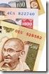 Indian Rupee currency bills (XL)