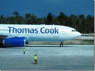 Thomas Cook flies away