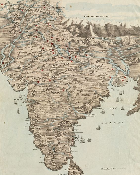 map-india-old_by-normanbleventhalmapcenter
