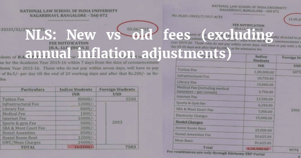 NLS hikes fees by massive 50k to Rs 2 3 lakh [CORRECTION] - Legally