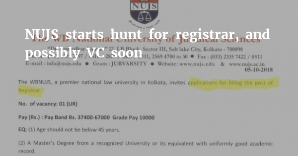 As NUJS begins crawl to get new VC, details of process not