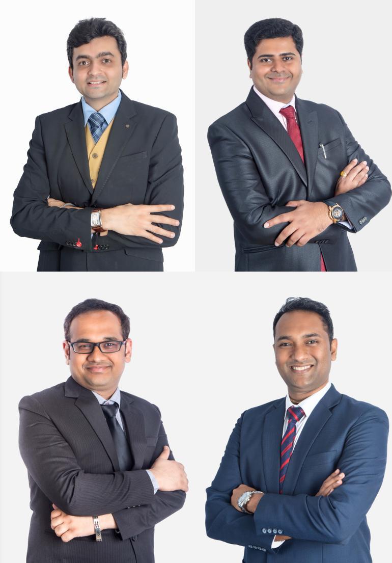 New Rajani partners Amish Shroff, Amit Kolekar, Ankur Singhania, Mayur Shetty