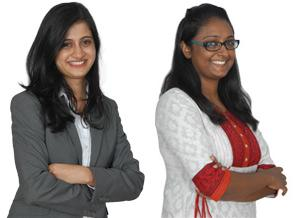 New Indus partners Pallavi Kanakagiri and Winnie Shekhar (l to r)