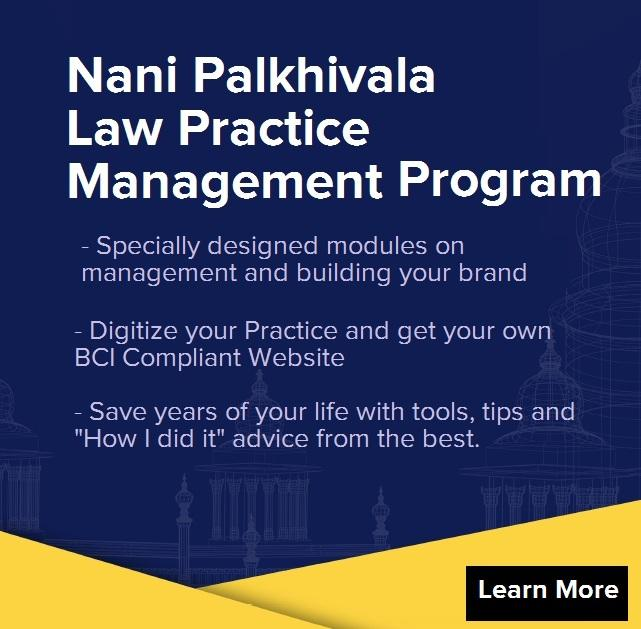 Nani Palkhivala Course for Lawyers - Digital Management and Best