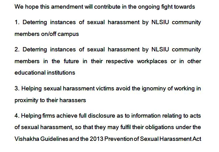RCC statement on the objectives of the sexual harassment prevention amendment
