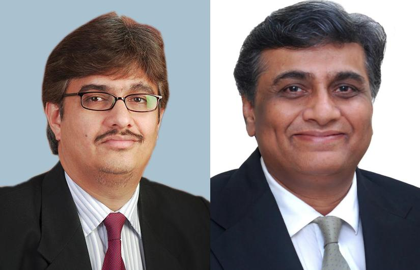 Universal founder Partha Mandal (left) and Bheru Choudhary: 'Powerful combination' with IC Legal