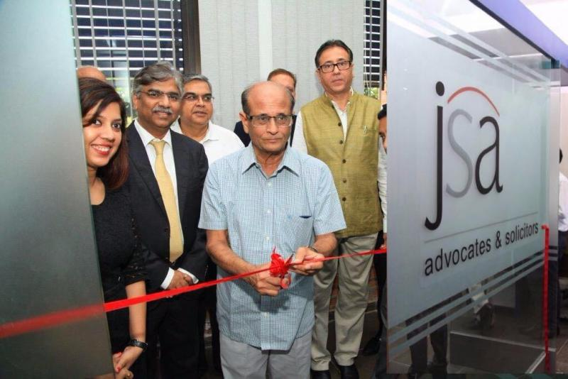 JSA cuts GIFT office ribbon (Potdar second from left)