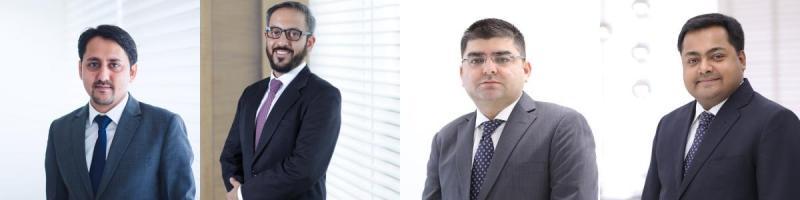 New SAM corporate partners Kapoor, Bhalaik, Sehgal, Mukherjee (l to r)