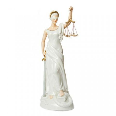 </p><p>A stunning Lady of Justice made from porcelain, and handpainted. Standing 10.5 inches high and 4.5 inches wide, she makes an impressive addition to any legal office, and a great present for legal colleagues or newly-qualified lawyers.