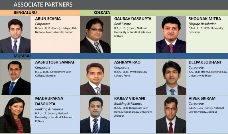 New associate partners in Mumbai, Bangalore, Cal