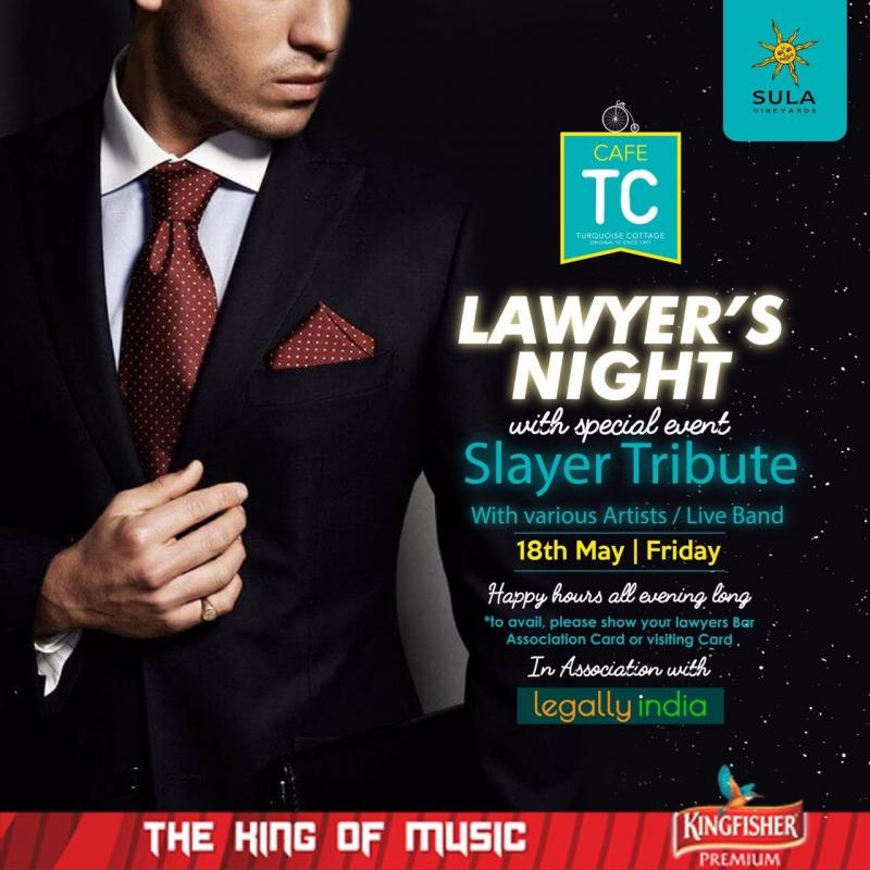 Lawyers night at TC Cafe on Friday, 18 May, with a very special metal tribute