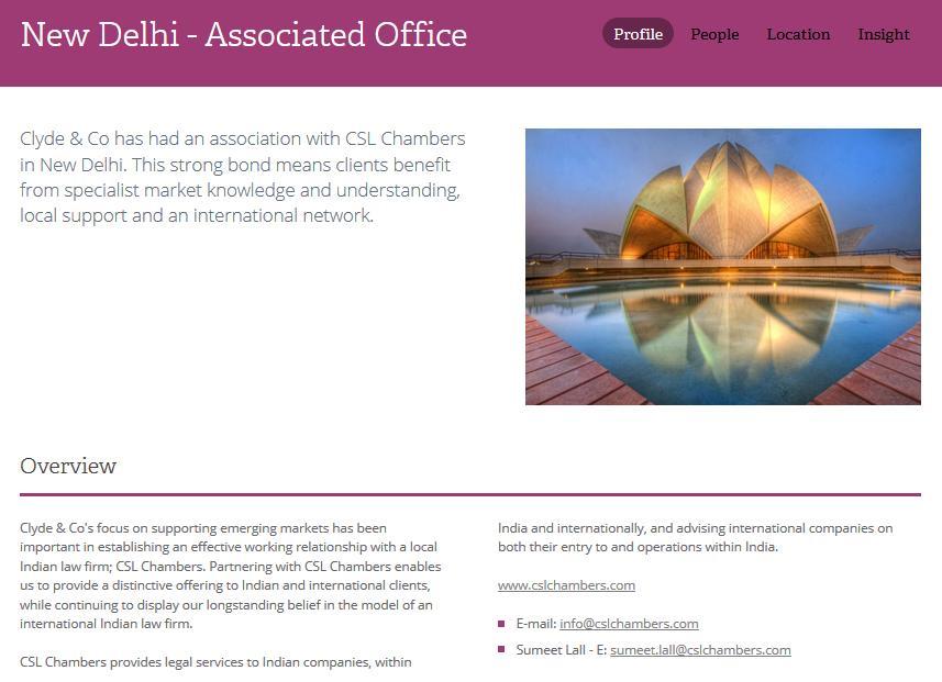 The Clydes updated India website
