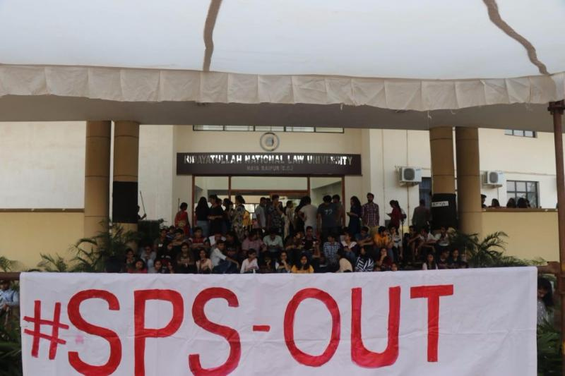 HNLU protests against SPS