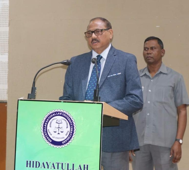 Justice AK Tripathi channels Shakespeare, addresses HNLU students