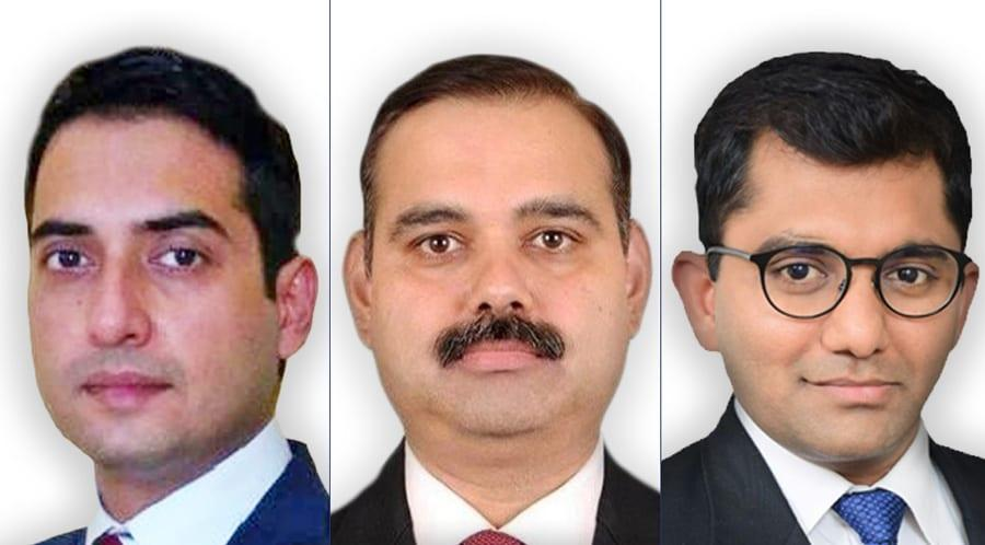 L to R: Sharma, Misra and Gupta give boost to HSA regulatory practice