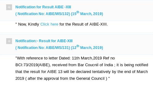 AIBE 13 results are now out, 11 weeks post exam