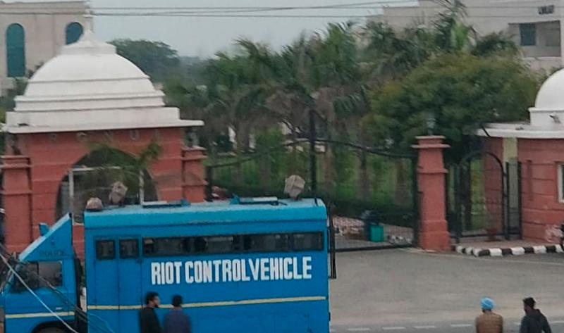 Students remain worried by admin's response and escalating police presence on campus, though riot vans have now departed