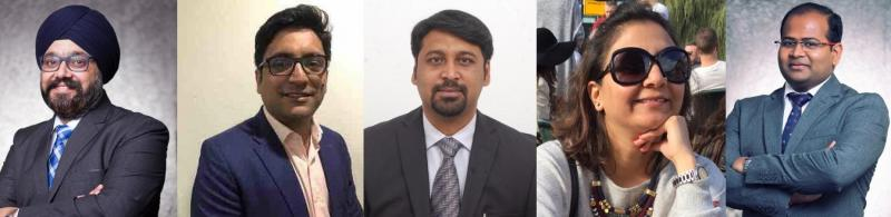 Of original team of 9, 7 now confirmed to join DSK: Singh, Pai, Chandrasekhar, Chadha, Khard (l to r)