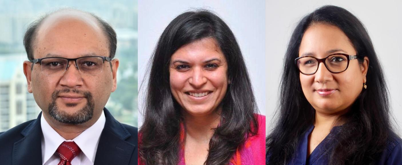 Baliga (left) moves on to head Bayer, Wadhwa, Jain split GSK legal departments (l to r)