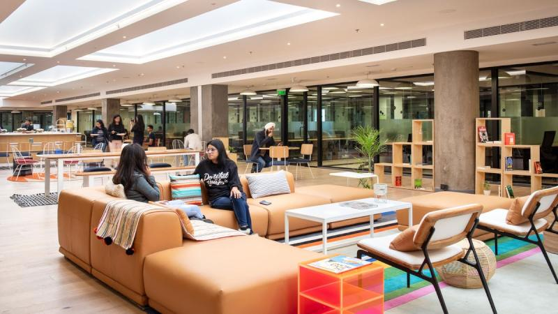 Marketing image from hip WeWork Embassy Quest location in Bangalore Richmond Town (via WeWork website)