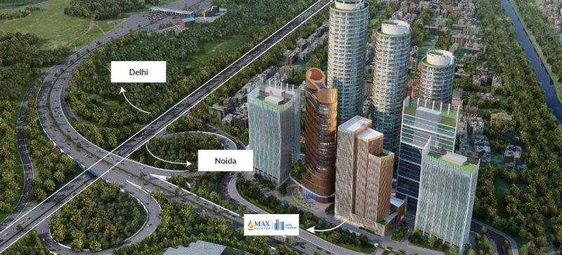 Khaitan new Delhi-Noida offices in Max Towers (via Max Estates)