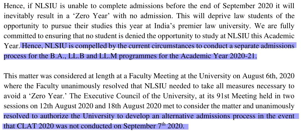 CLAT postponements cause NLS to revise admissions process